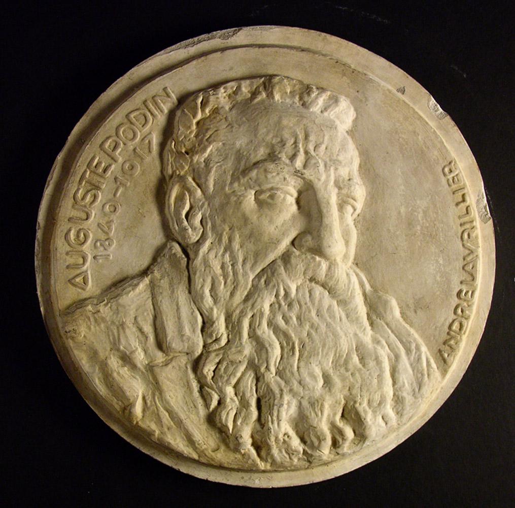 Andre-Lavrillier-medaille-portrait-Rodin