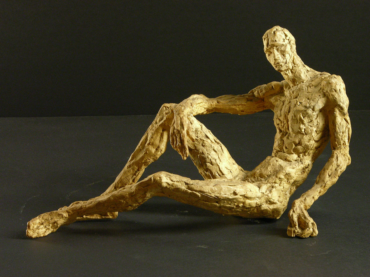Homme au repos - Sculpture - Margaret Cossaceanu - 1943 - 1950 - Photo Carol-Marc Lavrillier
