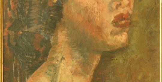 Jeune femme - Huile sur toile - Margaret Cossaceanu - 1950 - Photo Carol-Marc Lavrillier