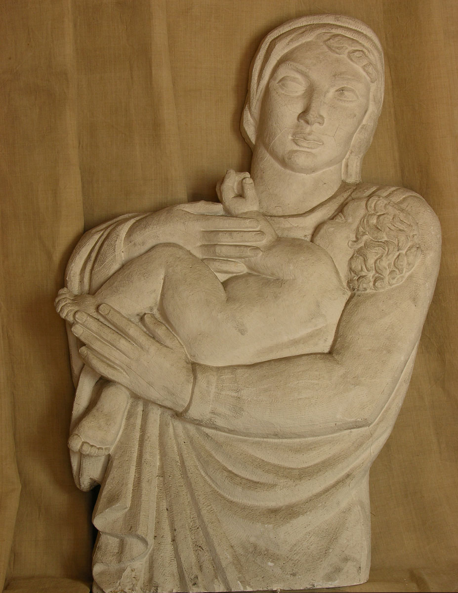 Maternité - Sculpture - Détail haut relief  - Margaret Cossaceanu -1917 - Photo Carol-Marc Lavrillier