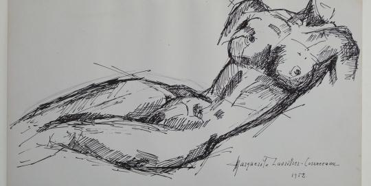Voie lactée - dessin - Margaret Lavrillier-Cossaceanu - 1952 - Photo Carol-Marc Lavrillier